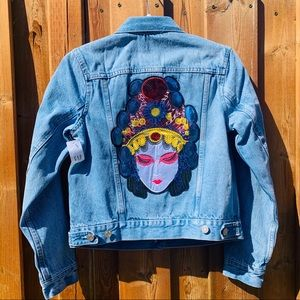 Geisha Patch Lined GAP Jean Jacket